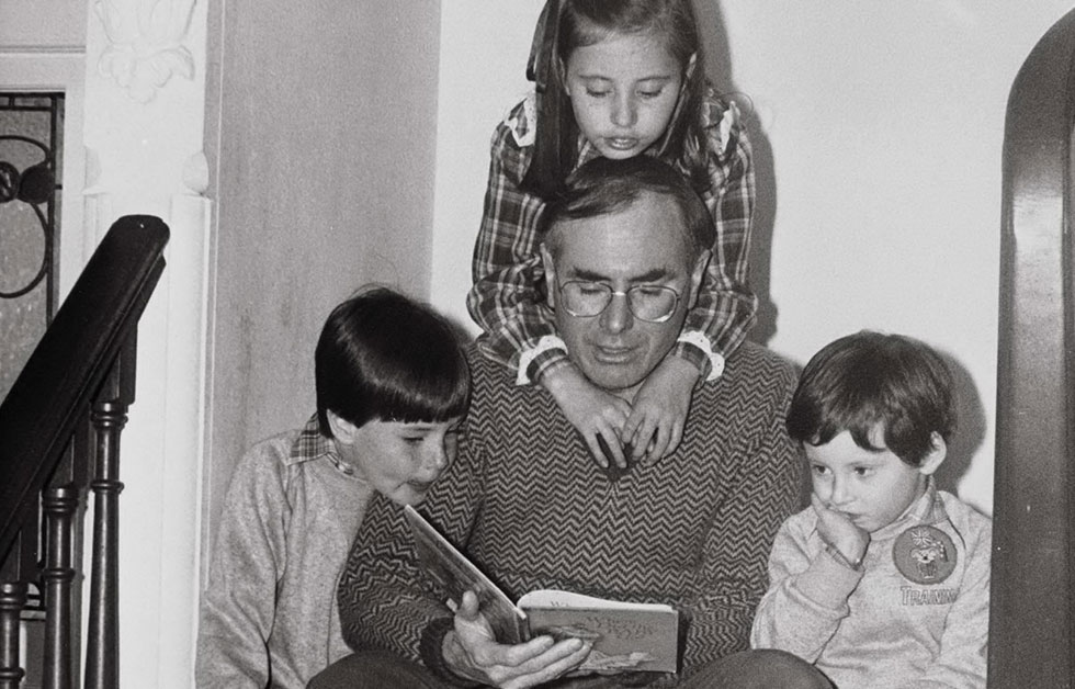 John Howard with his three children